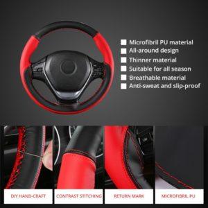 Anti-Slip Microfiber DIY Car Steering Cover