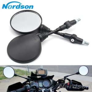 Universal Round Shape Motorcycle Side Mirrors Set
