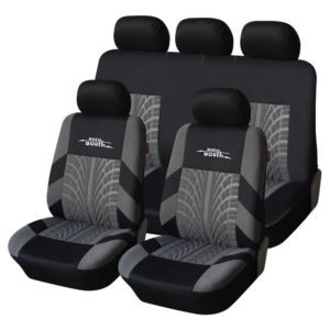9 Psc Universal Tire Pattern Full Car Seat Covers Set