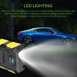 Car Air Compressor with LED Light