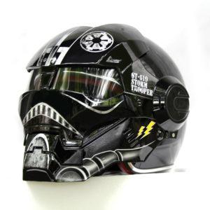 Star Wars Black Stormtrooper Full Face Motorcycle Helmet
