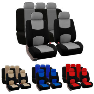 9 Pcs Universal Two Tone Car Seat Covers Set