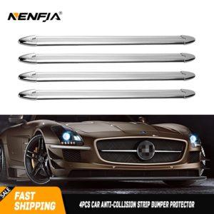 Anti-Crash Rubber Car Bumper Protectors 4 pcs Set