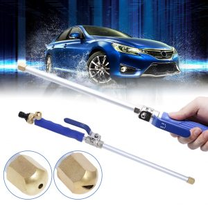 High Pressure Power Water Gun Jet Garden Washer Hose Wand Nozzle Sprayer Watering Spray Sprinkler Cleaning Tool (Blue)